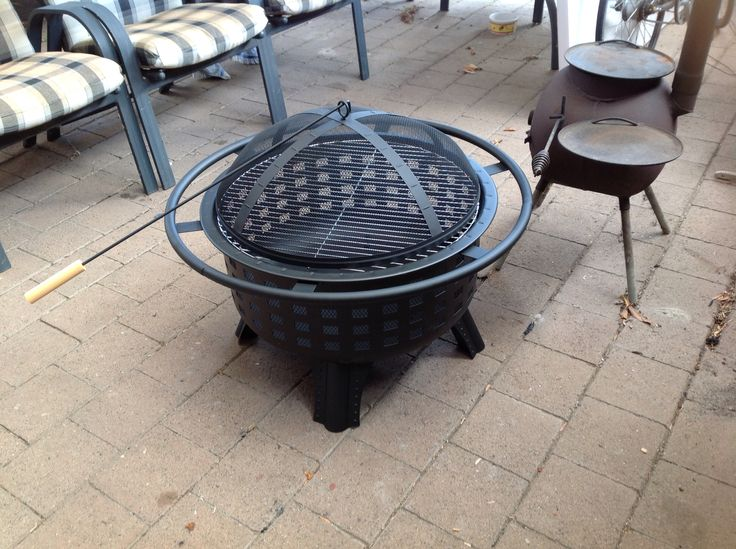 my new outdoor firepit grill at aldi outdoors. Black Bedroom Furniture Sets. Home Design Ideas