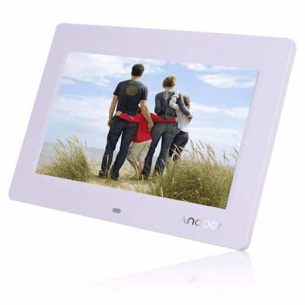 10'' HD TFT-LCD 1024 * 600 Digital Photo Frame Clock MP3 MP4 Movie Player with Remote Desktop US$39.99 Discount: 18% OFF Features: High resolution TFT-LCD (1024*600) screen offers the viewer a clear and distinct display. Simple to operate, remove the memory card from your camera and insert it into the allotted slot in the frame, then your pictures are immediately ready for viewing. Compatible with SD/MMC/MD/XD cards, no longer have to develop or transfer pictures files from your camera…
