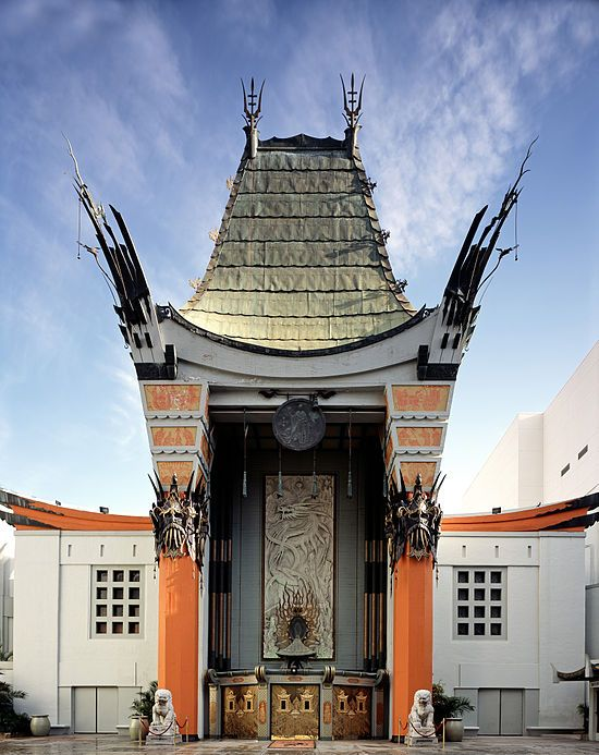 TCL Chinese Theatre is a cinema on the historic Hollywood Walk of Fame at 6925 Hollywood Boulevard in Hollywood, California. Originally Grauman's Chinese Theatre and renamed Mann's Chinese Theatre in 1973; the current name of the theatre became official January 11, 2013, after TCL Corporation purchased the naming rights. There are nearly 200 Hollywood celebrity handprints, footprints, and autographs in the concrete of the theatre's forecourt.