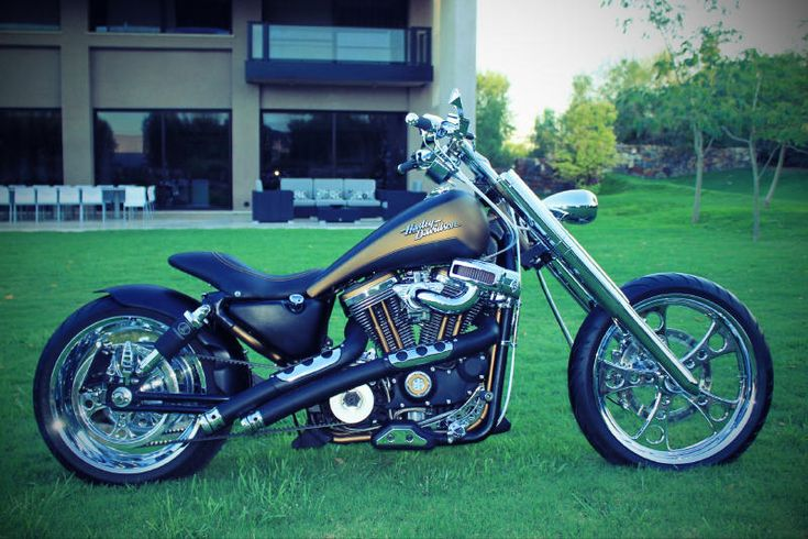 "Chopper Kit - Harley Davidson Photo #181 1994 XL 1200 Custom 9 deg. rake kit w/+4"" tubes.  Increase in length 5"""