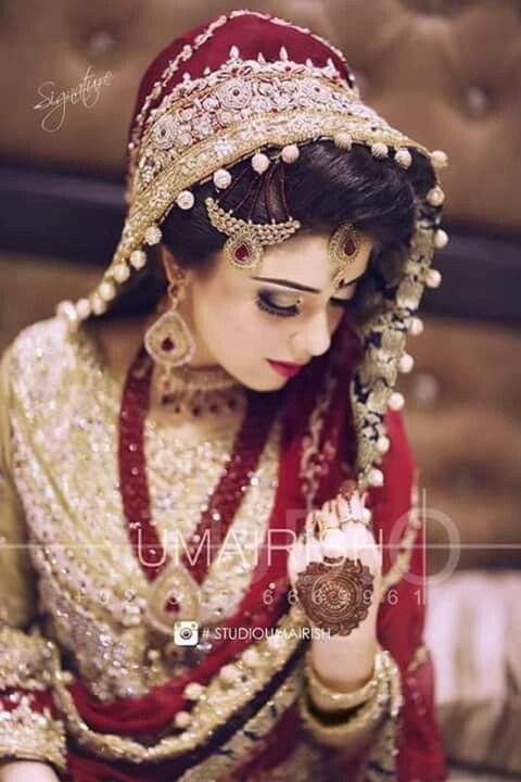Pakistani Bride | Red & Gold Bridal Dress | Stunning Look