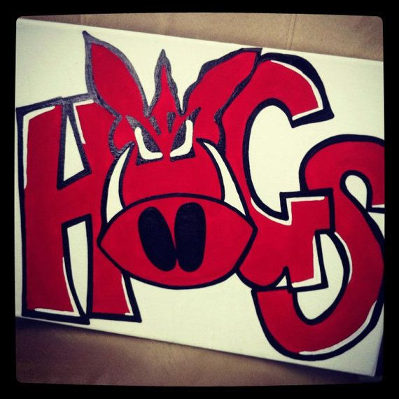 HOGS Razorback Canvas by arhale4 on Etsy