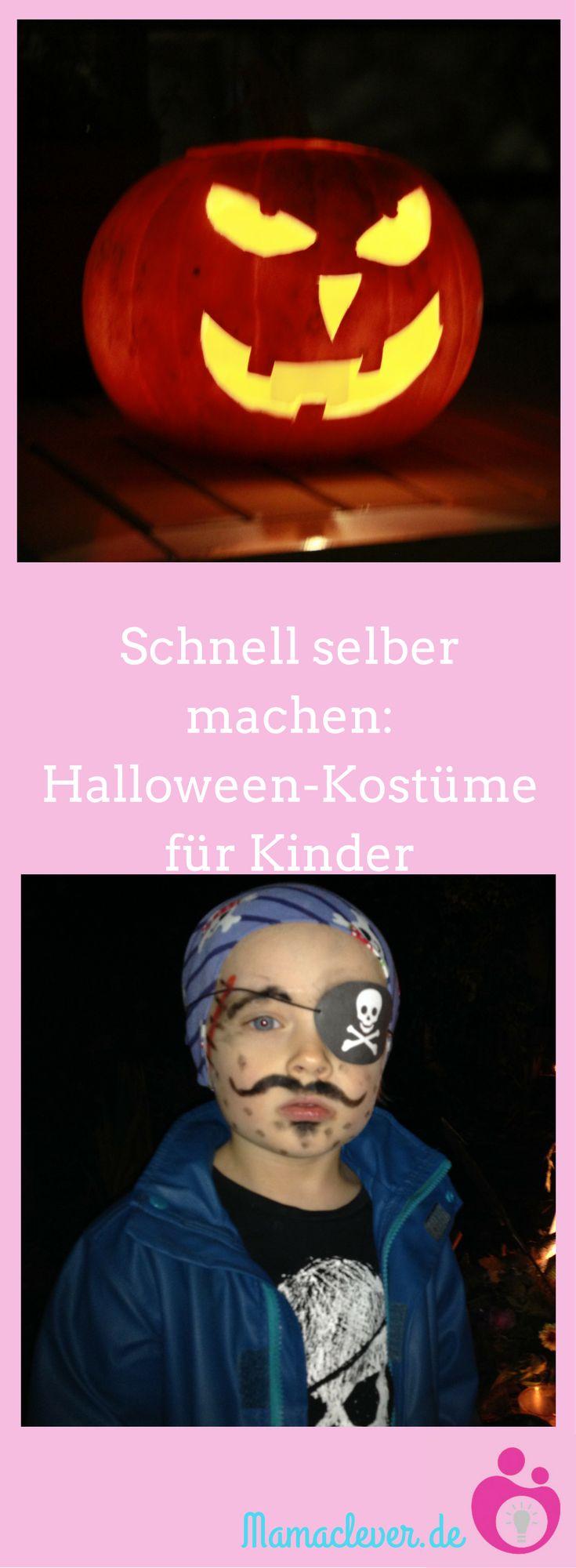 Ein Halloween-Kostüm fürs Kind selber zu machen muss gar nicht so aufwendig sein und ist auch für handarbeitlich Unbegabte möglich, wie Mamaclevers Tipps und Links zeigen. #Halloween #Kostüm #DIY #Kind