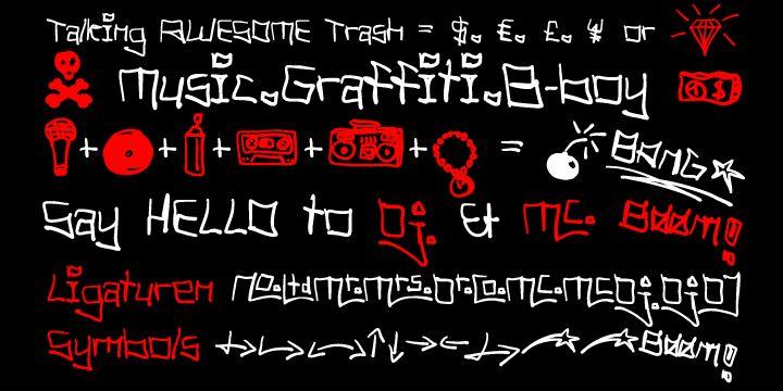 Tag Hand Graffiti Trash Font | dafont.com
