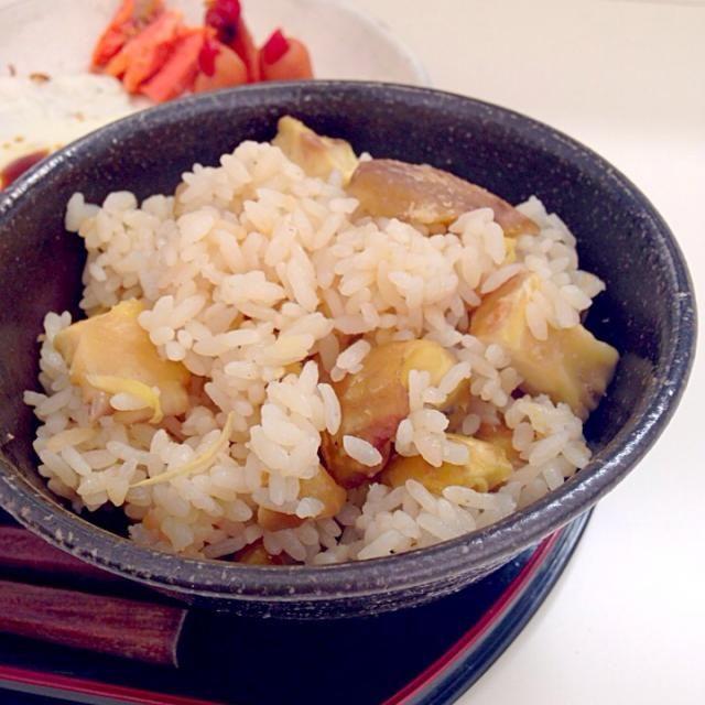 秋といえば! - 7件のもぐもぐ - 栗ゴロゴロ栗ご飯 by mineralime