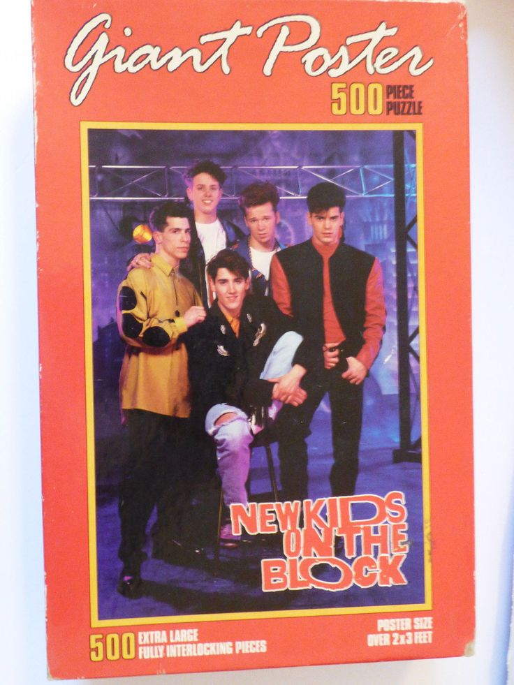NIB NEW KIDS ON THE BLOCK GIANT POSTER PUZZLE 500 PIECES 1990 2x3 feet | eBay