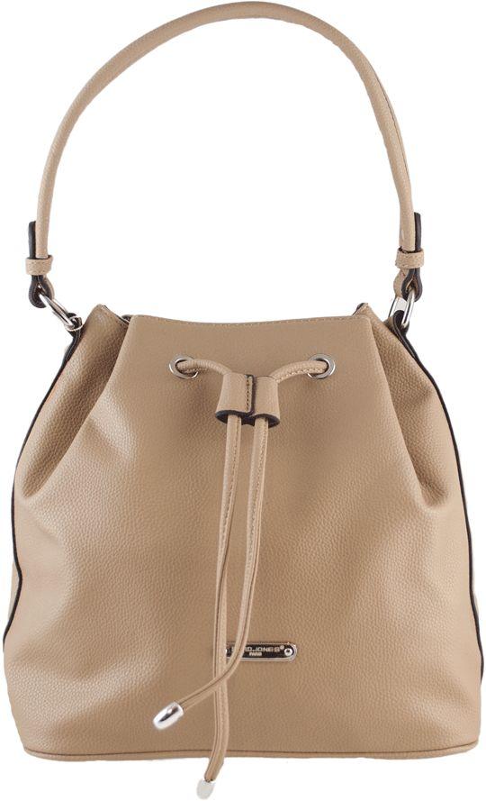 Μπεζ τσάντα ώμου David Jones CM2539 | IzyShoes Παπούτσια και αξεσουάρ
