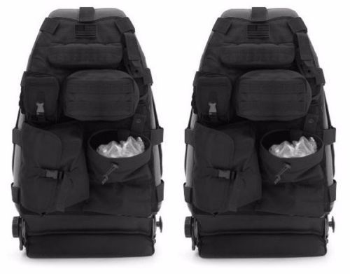 Smittybilt GEAR Front Seat Covers Pair 14 Pouches 07 17 Jeep Wrangler JK