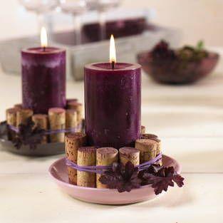 Herbstliche Tischdeko für den gemütlichen Weinabend