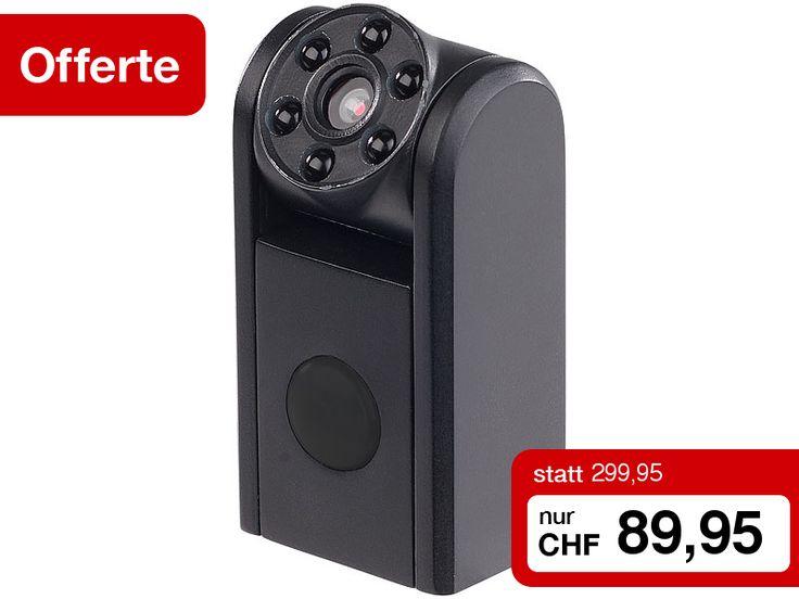 Nur für 1 Woche: 70% Rabatt auf die Mini-HD-Überwachungskamera von Somikon. Dem wachsamen Auge dieser kleinen Kamera entgeht nichts: Sie Filmt, dank Bewegungserkennung automatisch, wenn sich was tut. Ganz gleich, wo und wie Sie sie aufstellen, mit dem bis zu 180° neigbarem Kamerakopf richten Sie sie immer perfekt aus! Und das Beste: der extra-ausdauernde Akku hält bei aktiver Bewegungserkennung bis zu 1 Jahr!  Zum Angebot…
