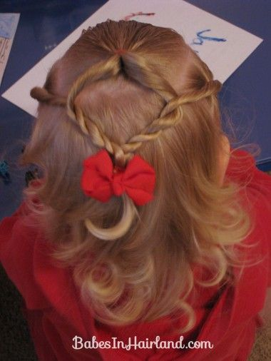 Baby Hairstyle - Twist Braids and Pull Throughs (1)