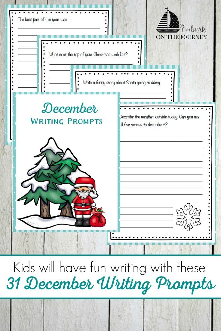 december writing prompts Use this large list of christmas and december writing prompts to help you create  some fun journal writing topics for december for your elementary school.