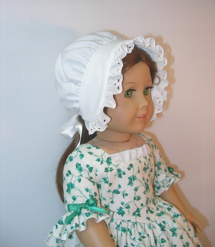 1774-504, 18 Inch American Girl Doll Clothes Round Eared Cap Elizabeth Felicity Doll Clothing. $16.00, via Etsy.