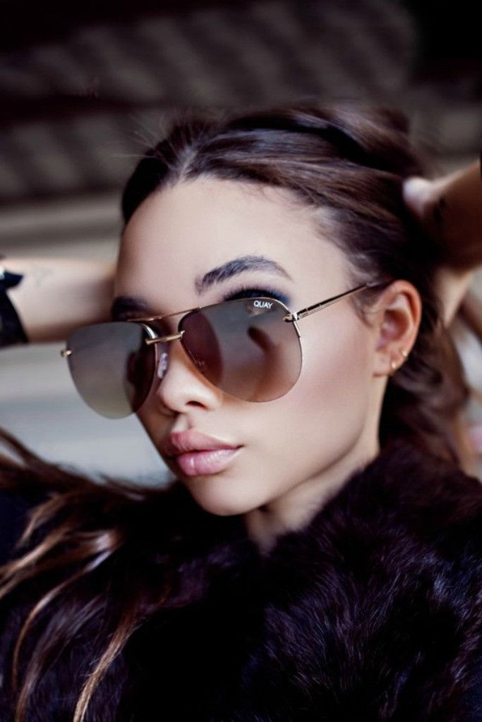 Quay Australia - The Playa Gold Brown Designer Sunglasses