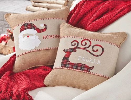 Tartan Christmas Pillow Wraps