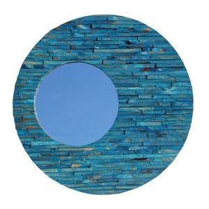 Asian Art Imports - Wood Teak Orbit Mirror Blue, $489, now featured on Fab.