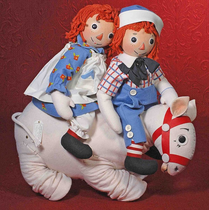 "*JOHN WRIGHT ""PREMIERE RAGGEDY ANN & ANDY"" MATCH : Lot 355:"