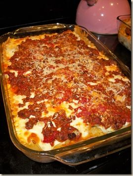Pioneer Woman recipe for lasagna-very good!