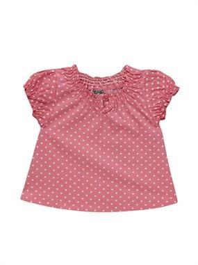Una monada de blusa de lunares para nenas. ¡Ahora de rebajas por solo 3,59 €!
