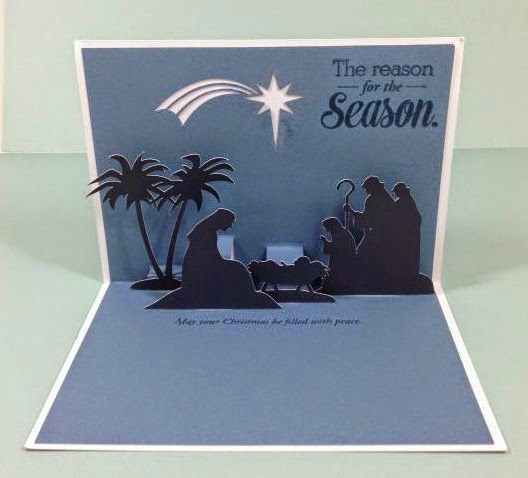 Close To My Heart Artfully Sent Cricut Cartridge Nativity Scene Pop-Up card