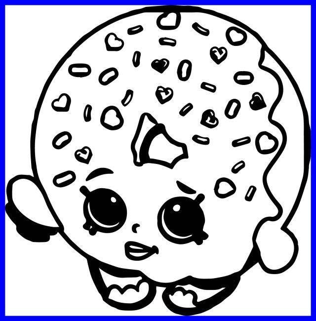 21 Inspired Photo Of Donut Coloring Page Entitlementtrap Com Shopkins Colouring Pages Donut Coloring Page Shopkin Coloring Pages