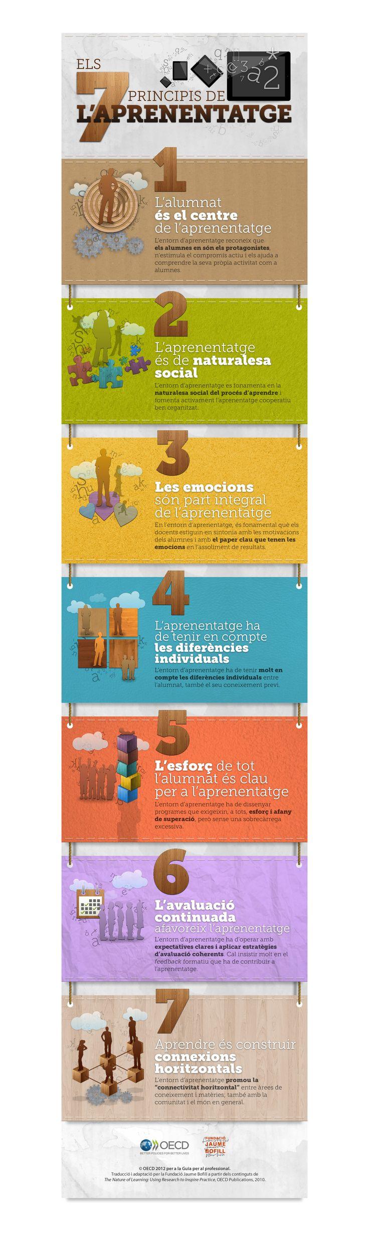 Els 7 principis de l'aprenentatge. http://learningleadershipconference.cat/docs/infografia_ILE.jpg