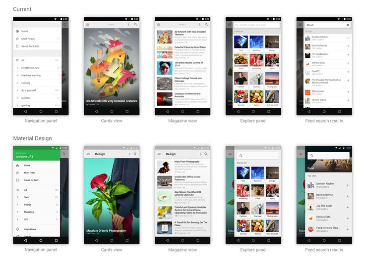 An exploration in Material Design by feedly — feedly, behind the curtain — Medium
