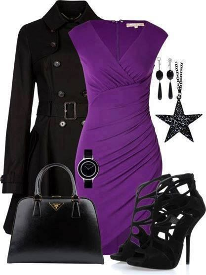 I would wear a different style shoe but I LOVE the purple dress
