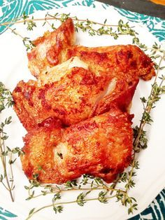 Sous Vide Crispy Chicken Thighs with Thyme and Garlic! 8 minutes of active cooking time, and the best chicken you'll ever eat!