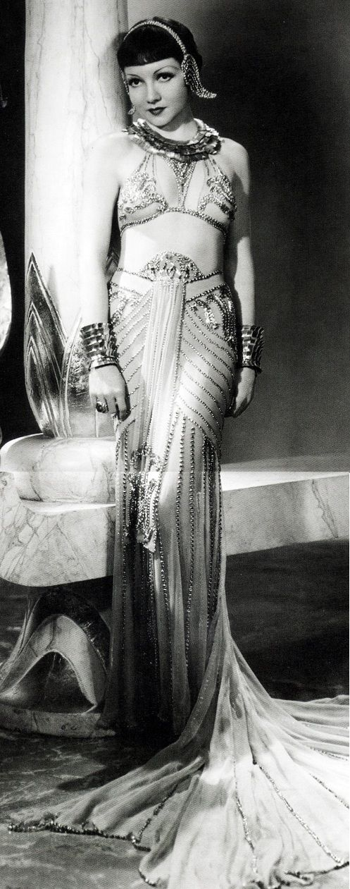 Claudette Colbert, 1934. Cleopatra. This has slightly more relevance as it is Egyptian - themed.