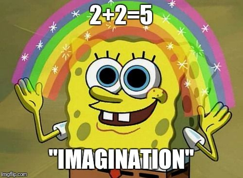 "Imagination Spongebob | 2+2=5 ""IMAGINATION"" 
