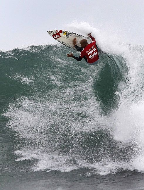 Kelly Slater surfing in Jeffreys Bay, South Africa
