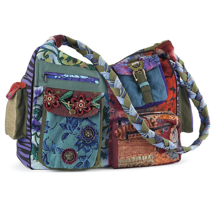 Boho Gypsy Bag - New Age, Spiritual Gifts, Yoga, Wicca, Gothic, Reiki, Celtic, Crystal, Tarot at Pyramid Collection
