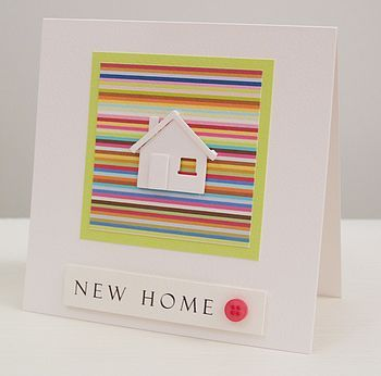 stripy new home handmade card by thoughts of you | notonthehighstreet.com