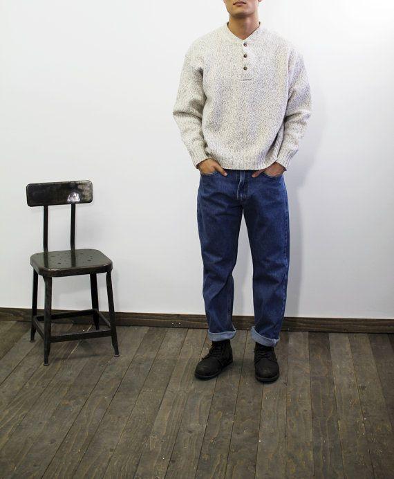 MENS Vintage gruau coton pull pull par CitizenVintage sur Etsy #mensfashion #sweater #cotton #vintage