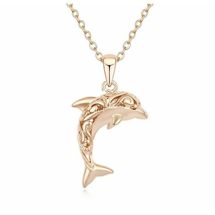 Gold Dolphin Necklace