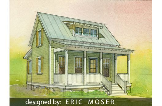 2 bedroom katrina cottage micro cottages pinterest for Katrina cottage floor plans