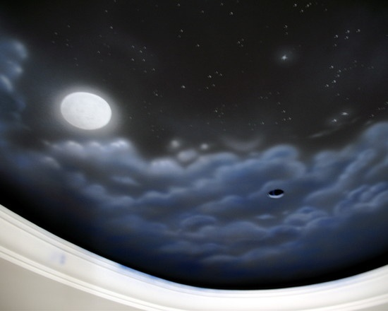1000 images about sky painted ceilings on pinterest for Constellation ceiling mural