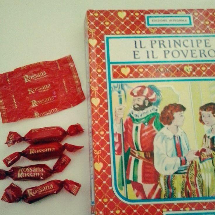 """Giorno 16  Libro & caramelle #challengebookfebruary  Con questa foto torniamo bambine! Anche a voi le caramelle Rossana ricordano la vostra infanzia?? Accanto """"Il principe e il povero"""" di Mark Twain in un'edizione del 1991.  #libri #leggere #bookstagram #instalibro #instabook #book #books #letture #infanzia #caramelle #dolci #rossana #sweet #instafood #candy #picoftheday #booklover #bookporn #bookaholic #ilovereading #read #ilovebooks #instalike #like #bookworm #insta #blog #bookblog"""