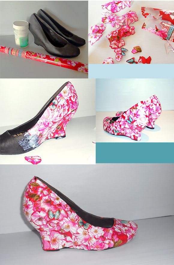 ON TREND: FLORAL SHOES (DIY: DÉCOUPAGE SHOES)