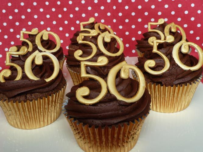 50th Anniversary Cupcake Ideas http://ladybirdbakery.co.uk/cupcakes ...