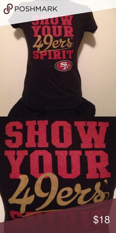 Tshirt Womens 49ers shirt Nfl team apperal Tops Tees - Short Sleeve