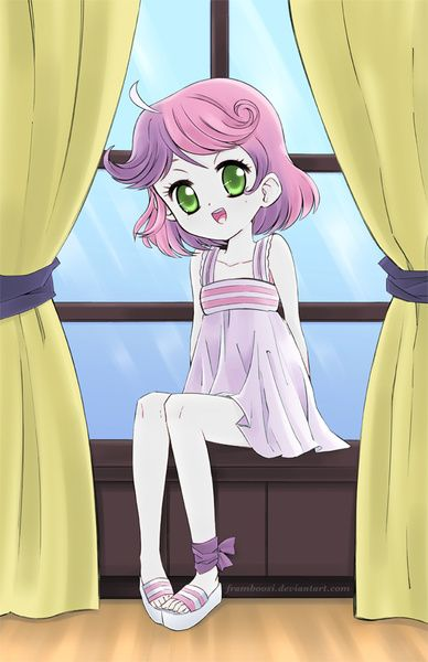 #1174449 - artist:framboosi, clothes, cute, diasweetes, dress, edit, eqg recolor, equestria girls, feet, recolor, safe, solo, sweetie belle - Derpibooru - My Little Pony: Friendship is Magic Imageboard