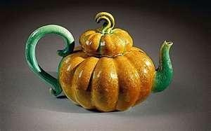 Pumpkin teapot by Kate Malone