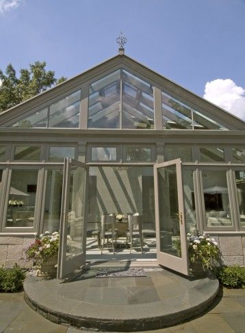 pool house conservatory entrance