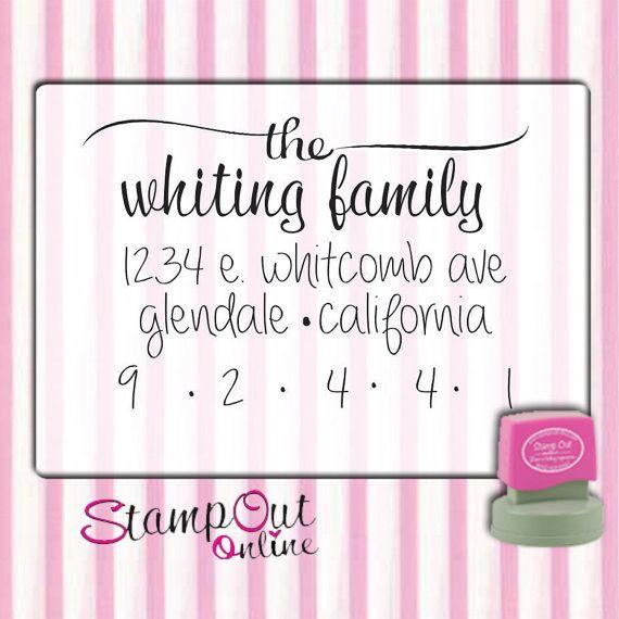 Script Return address custom rubber stamps self inking Super cute custom rubber stamps --2748