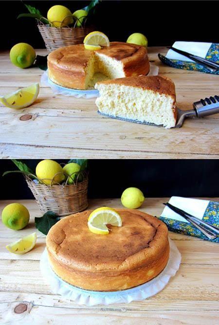 Bizcocho de limón y leche condensada