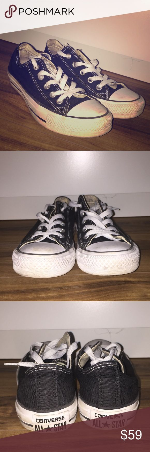 CONVERSE WOMEN'S CHUCK TAYLOR ALL STAR SNEAKERS •In a great condition•  Plimsolls by Converse •Lightweight, textile upper •Classic low-top design •Lace up fastening •Vent eyelets to the inner foot •Signature branding to the tongue and heel •Geometric tread •Wipe with a damp sponge •Lining: 100% Textile, Sole: 100% Other Materials, Upper Part: 100% Textile Converse Shoes Sneakers