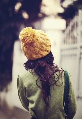 Mustard winter bobble hat :)