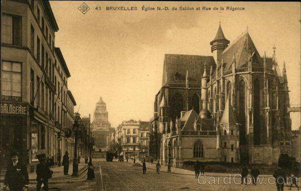 Notre Dame du Sablon Church and Rue de la Regence